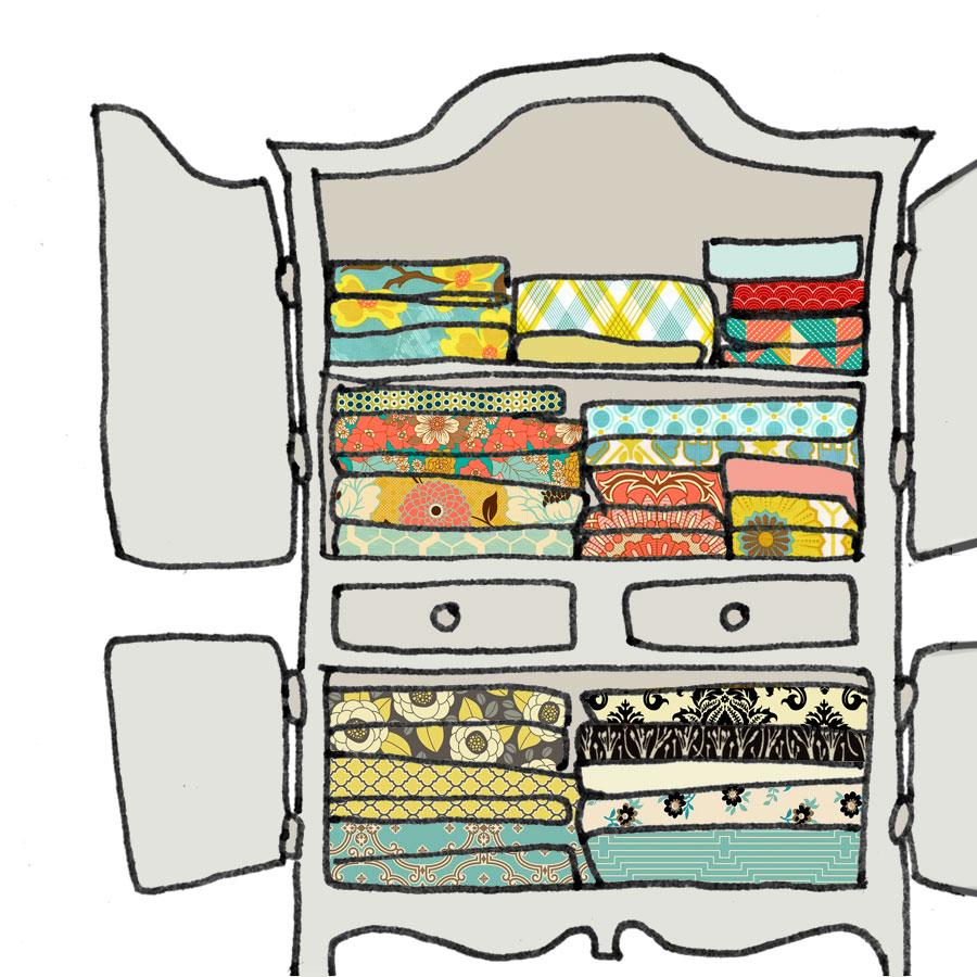 Une armoire pleine de linge