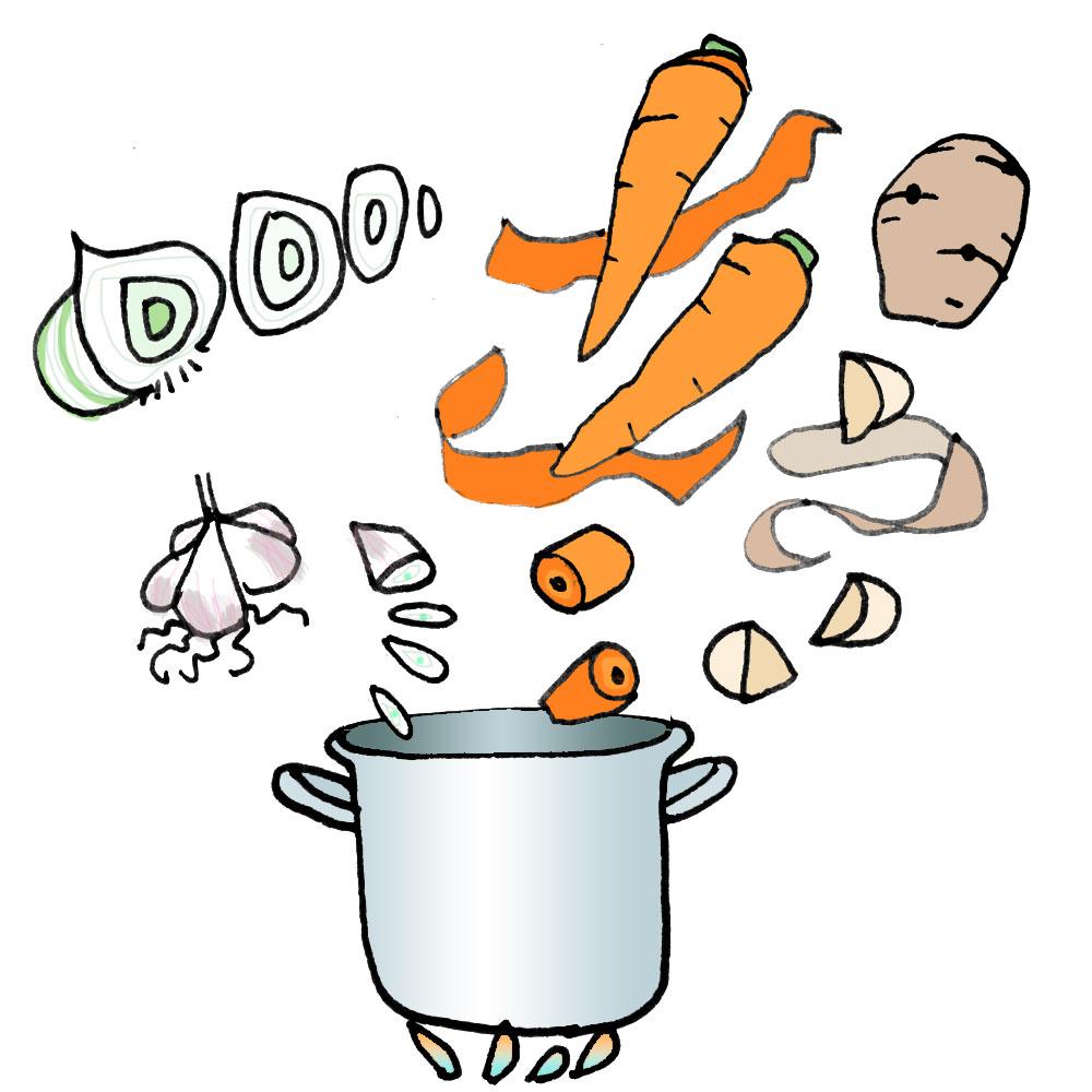 Kaltenpola, blog illustration et DIY - Recette du carry : oignon ail carotte patate douce